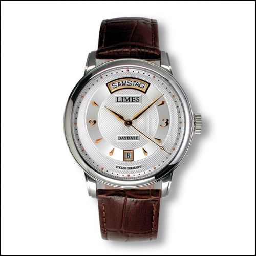 Image of Limes Pharo DayDate - Two-tone / brown leather strap U6282C-LA2.2