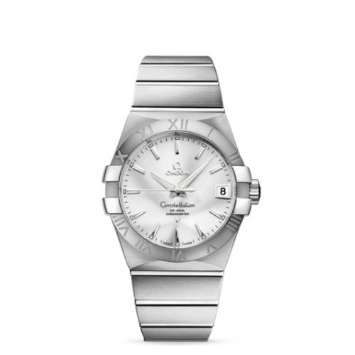Image of Omega Constellation 38mm Co-Axial Brushed 123.10.38.21.02.001