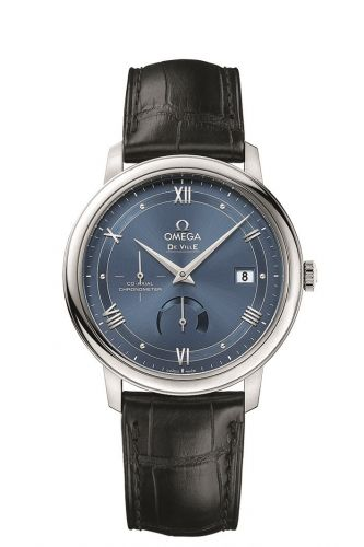 Image of Omega Deville Prestige Co-Axial Power Reserve Vintage Blue 424.13.40.21.03.002