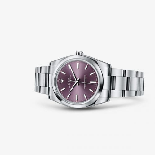 Image of Rolex Oyster Perpetual 34 Red Grape 114200-0020