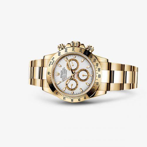 Image of Rolex Daytona Yellow Gold White 116528-0042