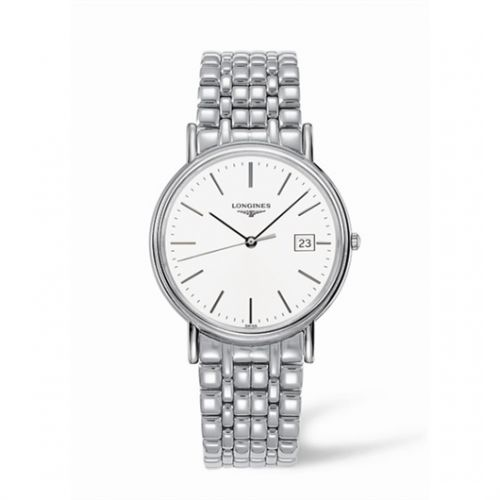 Image of Longines Presence 38.5 Quartz Stainless Steel Stick Bracelet L4.790.4.12.6