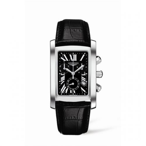 Image of Longines DolceVita 30 Quartz Chronograph Stainless Steel Black L5.680.4.79.3