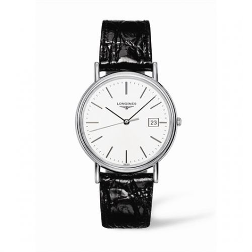 Image of Longines Presence 38.5 Quartz Stainless Steel Stick L4.790.4.12.2