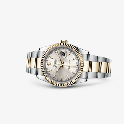 Image of Rolex Datejust 36 Rolesor Fluted Oyster Silver 116233-0169