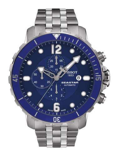 Image of Tissot Seastar 1000 Automatic Chronograph Blue Ceramic T0664271104702
