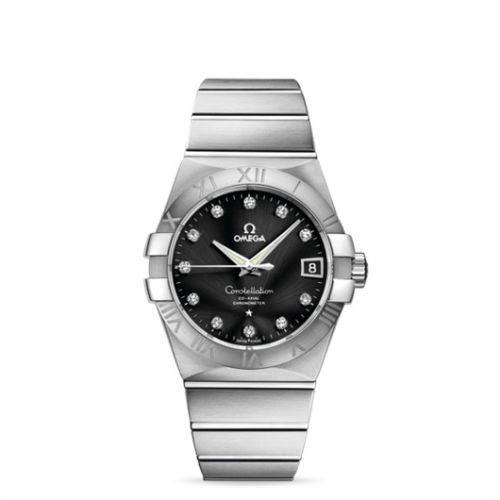 Image of Omega Constellation 38mm Co-Axial Brushed 123.10.38.21.51.001