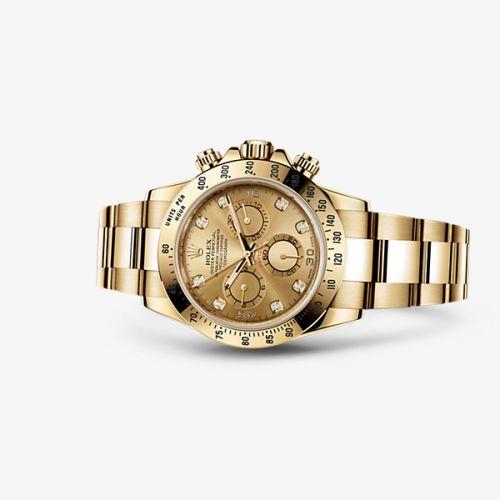 Image of Rolex Daytona Yellow Gold Champagne Diamond 116528-0033