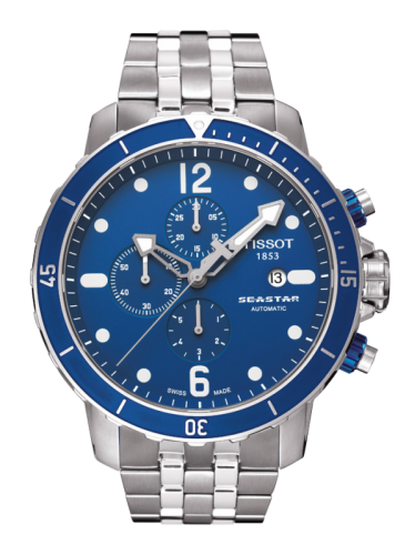 Image of Tissot Seastar 1000 Automatic Chronograph Blue T0664271104700