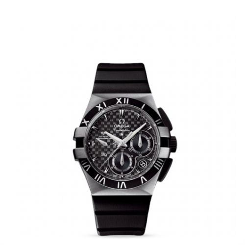 Image of Omega Constellation Double Eagle Co-Axial Chronograph Ladies Black 121.92.35.50.01.001