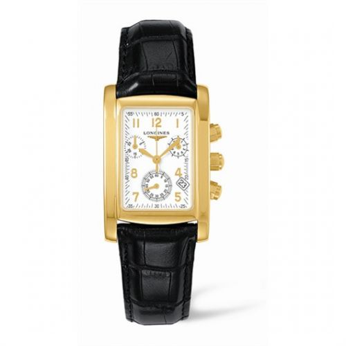 Image of Longines DolceVita 28 Quartz Chronograph Gold L5.656.6.13.3