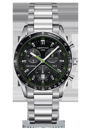 Image of Certina DS 2 Chrono 1/100 Sec PreciDrive Green C0244471105102