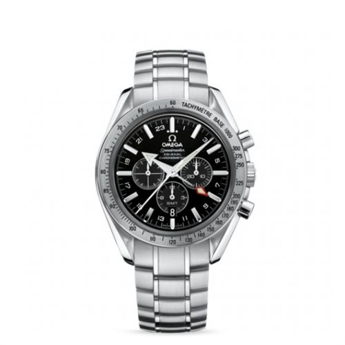 Image of Omega Speedmaster Broad Arrow Co-Axial GMT Black / Bracelet 3581.50.00