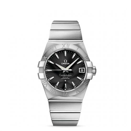 Image of Omega Constellation 38mm Co-Axial Brushed 123.10.38.21.01.001