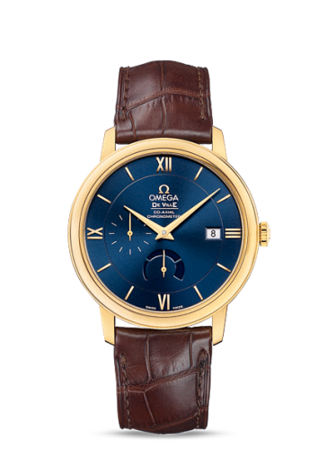 Image of Omega Deville Prestige Co-Axial Power Reserve Yellow Gold / Blue 424.53.40.21.03.001