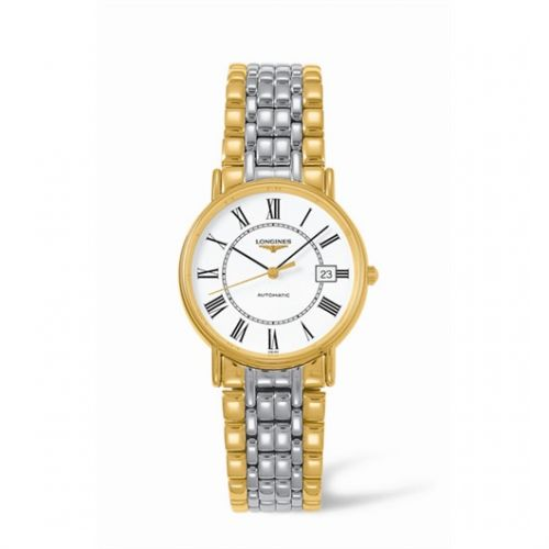Image of Longines Presence 34.5 Automatic Yellow Roman Bracelet Two Tone L4.721.2.11.7