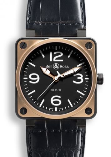 Image of Bell & Ross BR 01 92 Pink Gold & Carbon BR0192BICOLOR