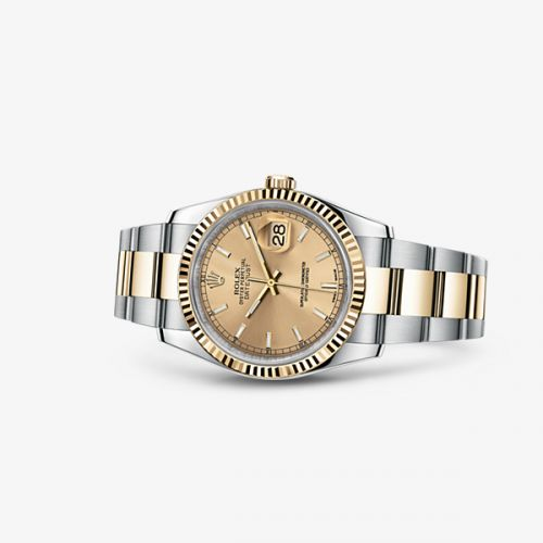 Image of Rolex Datejust 36 Rolesor Fluted Oyster Champagne 116233-0172