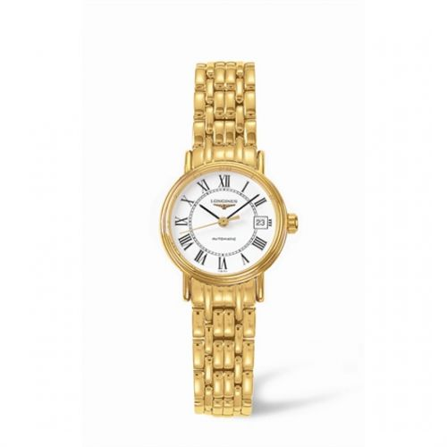 Image of Longines Presence 25.5 Automatic Yellow Roman Bracelet L4.221.2.11.8