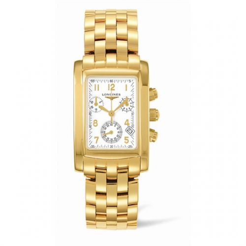Image of Longines DolceVita 28 Quartz Chronograph Gold L5.656.6.13.6
