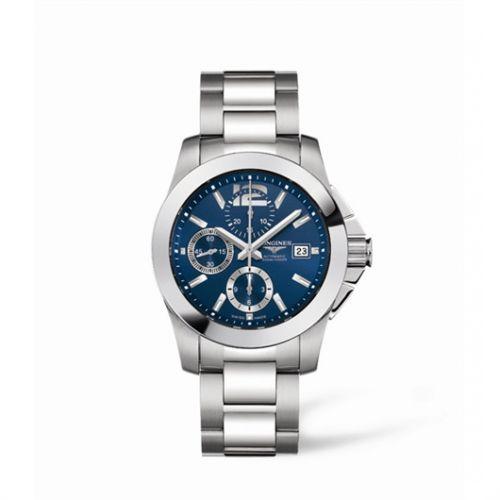 Image of Longines Conquest Chronograph Blue Bracelet L3.662.4.96.6