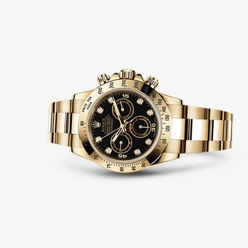 Image of Rolex Daytona Yellow Gold Black Diamond 116528-0031