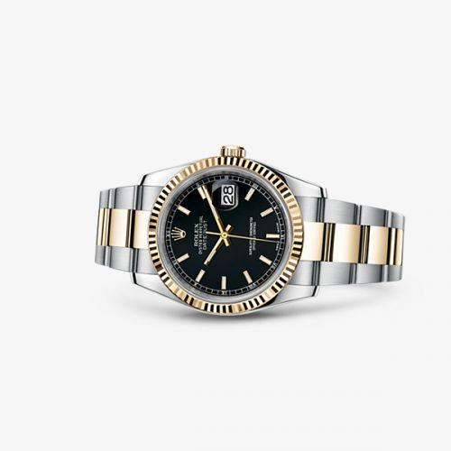 Image of Rolex Datejust 36 Rolesor Fluted Oyster Black 116233-0173