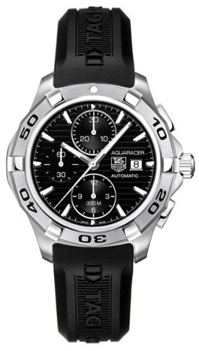 Image of TAG Heuer Aquaracer Calibre 16 Chronograph Black Rubber CAP2110.FT6028