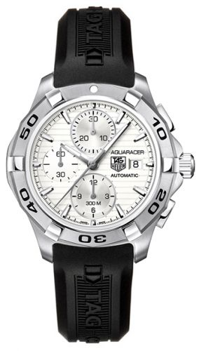 Image of TAG Heuer Aquaracer Calibre 16 Chronograph Silver Rubber CAP2111.FT6028