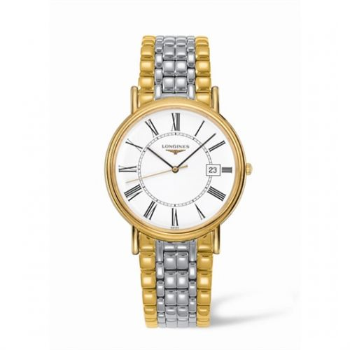 Image of Longines Presence 38.5 Quartz Yellow Roman Bracelet Two Tone L4.790.2.11.7