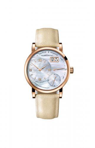 Image of A. Lange & Sohne Kleine Lange 1 Pink Gold Blue Mother of Pearl 113.041