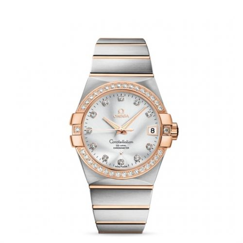 Image of Omega Constellation 38mm Co-Axial Brushed 123.25.38.21.52.001