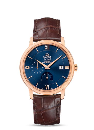 Image of Omega Deville Prestige Co-Axial Power Reserve Red Gold / Blue Dial 424.53.40.21.03.002