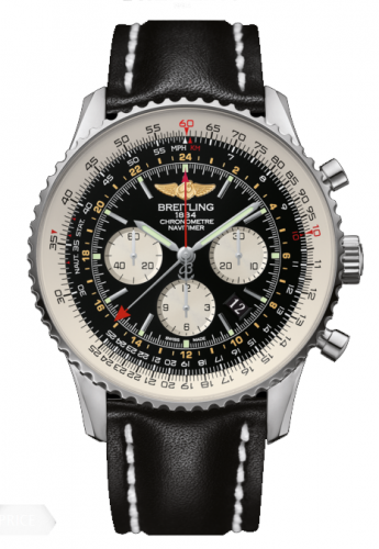 Image of Breitling Navitimer GMT Black / Calf AB044121.BD24.441X
