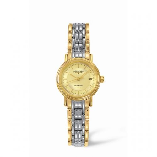 Image of Longines Presence 25.5 Automatic Yellow Stick Yellow Bracelet Two Tone L4.221.2.42.7