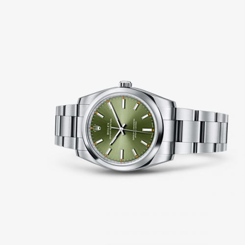 Image of Rolex Oyster Perpetual 34 Olive Green 114200-0021