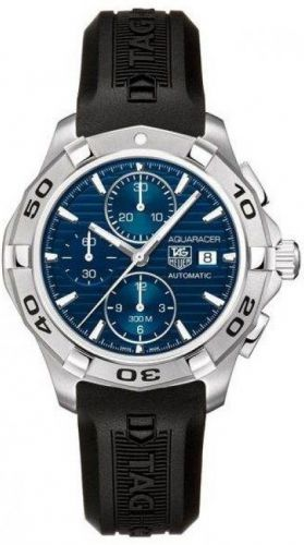 Image of TAG Heuer Aquaracer Calibre 16 Chronograph Blue Rubber CAP2112.FT6028