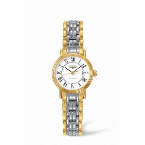 Image of Longines Presence 25.5 Automatic Yellow Roman Bracelet Two Tone L4.221.2.11.7
