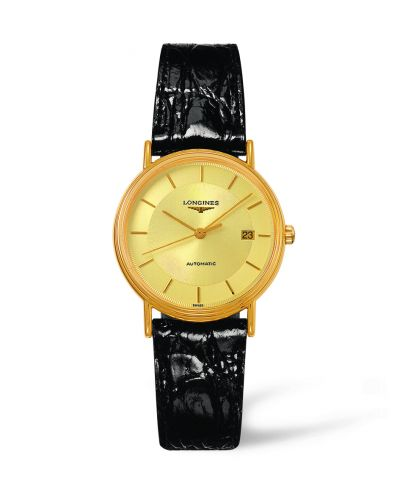 Image of Longines Presence 34.5 Automatic Yellow L4.821.2.42.2
