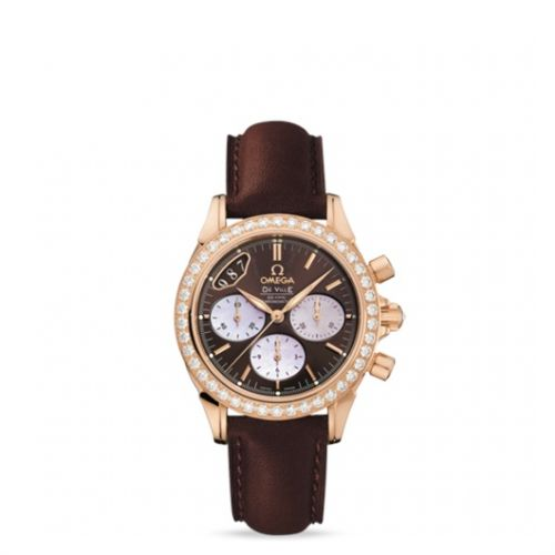 Image of Omega Deville Chronograph Co-Axial 35mm Gold / Brown 422.58.35.50.13.001