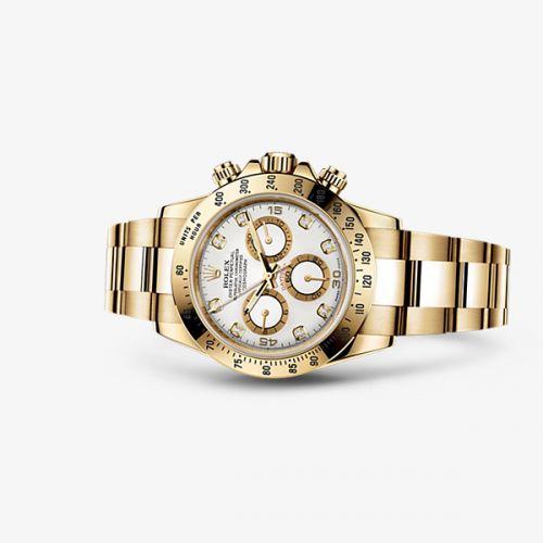 Image of Rolex Daytona Yellow Gold White Diamond 116528-0034