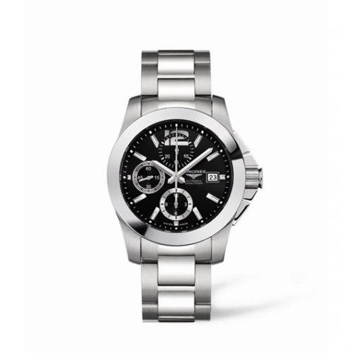 Image of Longines Conquest Chronograph Black Bracelet L3.662.4.56.6
