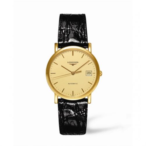 Image of Longines Presence 34.5 Automatic Gold L4.778.6.32.2