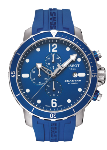 Image of Tissot Seastar 1000 Automatic Chronograph Blue Rubber T0664271704700